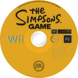 The Simpsons Game Wii disc (RSNP69)