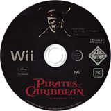 Pirates Of The Caribbean: At World's End Wii disc (RW3P4Q)
