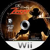 The Destiny of Zorro Wii disc (RZRPGT)