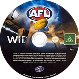 AFL: Australian Football League Wii disc (SAFUHS)