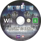 Doctor Who: Return To Earth Wii disc (SDOPLR)