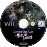 Mystery Case Files:The Malgrave Incident Wii disc (SFIP01)