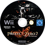 Project Zero 2:Wii Edition Wii disc (SL2P01)