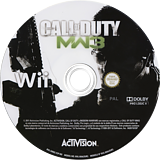 Call of Duty: Modern Warfare 3 Wii disc (SM8S52)