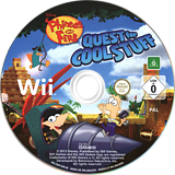 Phineas and Ferb: Quest for Cool Stuff Wii disc (SQFPGT)