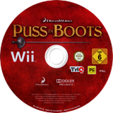 Puss in Boots Wii disc (SSBP78)