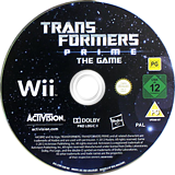 Transformers Prime: The Game Wii disc (STFP52)