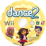 Nickelodeon Dance 2 Wii disc (SU2X54)