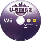 U-Sing 2: Australian Edition Wii disc (SU3UMR)