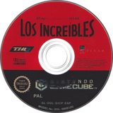 Los Increíbles GameCube disc (GICP78)