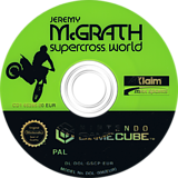 Jeremy McGrath SuperCross World GameCube disc (GSCP51)