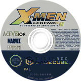 X-Men Legends II: El Ascenso de Apocalipsis GameCube disc (GX2S52)