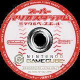 スーパーマリオスタジアム ミラクルベースボール GameCube disc (GYQJ01)