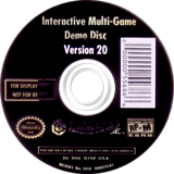 Interactive Multi-Game Demo Disc - Version 20 GameCube disc (D75E01)