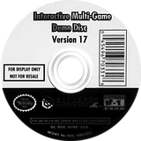 Interactive Multi-Game Demo Disc - Version 17 GameCube disc (D78E01)