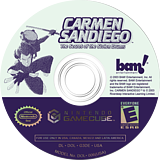 Carmen Sandiego: The Secret of the Stolen Drums GameCube disc (G3DE6L)