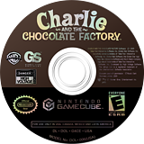 Charlie and the Chocolate Factory GameCube disc (G4CE54)