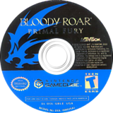 Bloody Roar: Primal Fury GameCube disc (GBLE52)