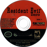 Resident Evil Zero GameCube disc (GBZE08)