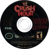 WWE Crush Hour GameCube disc (GCHE78)