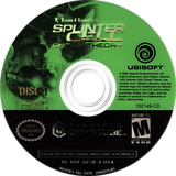 Tom Clancy's Splinter Cell: Chaos Theory GameCube disc (GCJE41)
