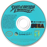 Skies of Arcadia Legends GameCube disc (GEAE8P)