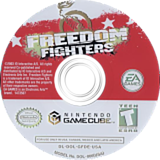 Freedom Fighters GameCube disc (GFDE69)