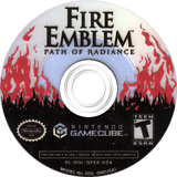 Fire Emblem: Path of Radiance GameCube disc (GFEE01)