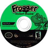 Frogger: Ancient Shadow GameCube disc (GFPEA4)
