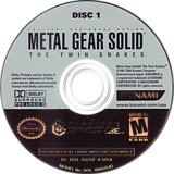 Metal Gear Solid: The Twin Snakes GameCube disc (GGSEA4)