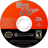 007: From Russia With Love GameCube disc (GLZE69)