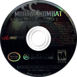 Mortal Kombat: Deadly Alliance GameCube disc (GMKE5D)