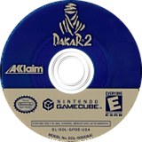 Dakar 2: The World's Ultimate Rally GameCube disc (GPDE51)
