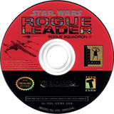 Star Wars Rogue Squadron II: Rogue Leader GameCube disc (GSWE64)