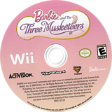 Barbie and the Three Musketeers Wii disc (R23E52)