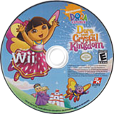Dora Saves the Crystal Kingdom Wii disc (R27E54)
