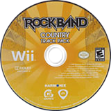 Rock Band: Country Track Pack Wii disc (R34E69)