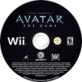 James Cameron's Avatar: The Game Wii disc (R5VE41)