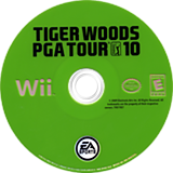 Tiger Woods PGA Tour 10 Wii disc (R9OE69)