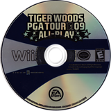 Tiger Woods PGA Tour 09 All-Play Wii disc (R9TE69)