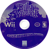 Billy the Wizard: Rocket Broomstick Racing Wii disc (RBZE5Z)