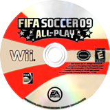 FIFA Soccer 09 All-Play Wii disc (RF9E69)