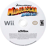 Madagascar Kartz Wii disc (RJHE52)