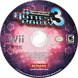 Dance Dance Revolution: Hottest Party 3 Wii disc (RJREA4)