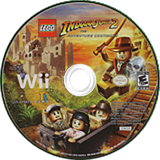 LEGO Indiana Jones 2: The Adventure Continues Wii disc (RL4E64)