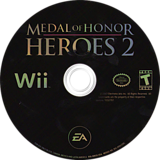 Medal of Honor: Heroes 2 Wii disc (RM2E69)