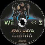 Metroid Prime 3: Corruption Wii disc (RM3E01)