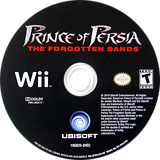 Prince of Persia: The Forgotten Sands Wii disc (RPWZ41)