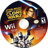 Star Wars The Clone Wars: Republic Heroes Wii disc (RQLE64)