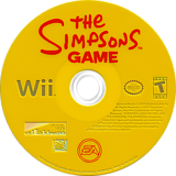 The Simpsons Game Wii disc (RSNE69)